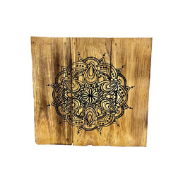 Mandala Recycled Wood Wall Art